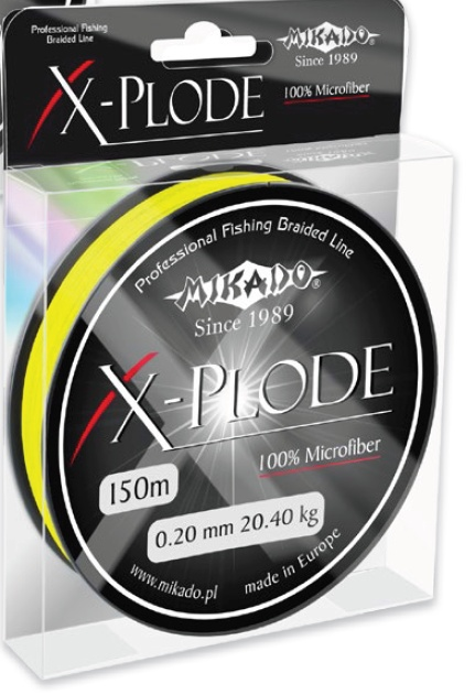 BRAIDED LINE X-PLODE 010 YELLOW 150M 1 SPOOL