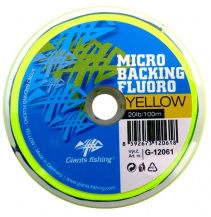 Giants fishing Micro Backing Fluoro-Yellow 20lb/100m