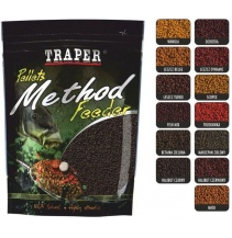 Traper Pellets method feeder 4mm  500g jahoda